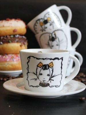 koffiekopje met schotel zeeuws meisje rosa